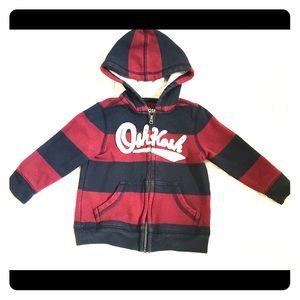 OshKosh Stripped Hoodie 9-12 M